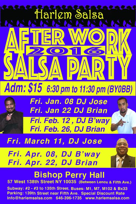 Harlem Salsa Jan. 2016 Schedule with Live Music | HARLEM SALSA